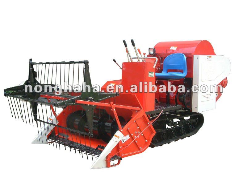 Farm machine 4LZ-1.0 mini type wheat & rice combine harvester