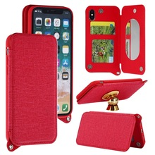 magnetic wallet flip leather phone case for iphone, colorful mirror case for iphone, for apple iphone 8 case