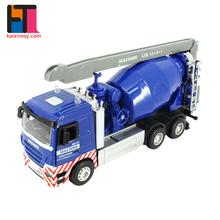 1:32 scale friction power die cast concrete pump truck model toys for custom