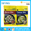 Resealable Food Grade 100g Plastic Flat Bottom Aluminum Foil Zipper Packaging Bags For Snack