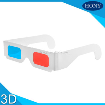 2*250g Paper Red Cyan 3D Glasses For Giveaway,factory prices with reliable after-sale service