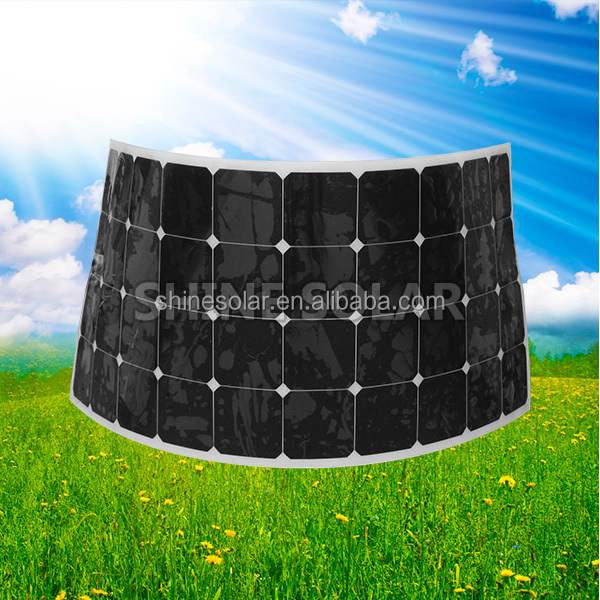 thin film mono crystalline 155W 150w solar panel wholesale Photovoltaic solar panel with TUV CE certifie