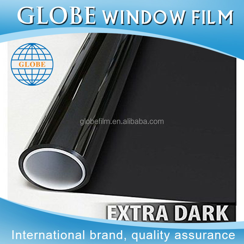 Removable car window film made in China solar tinting foil in limo black 5%