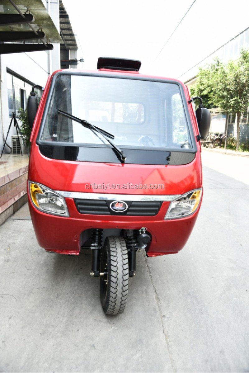 Gasoline Closed Carriage Adult Tricycle Wagon Farm Tricycle 250cc automatic motorcycle on Sale