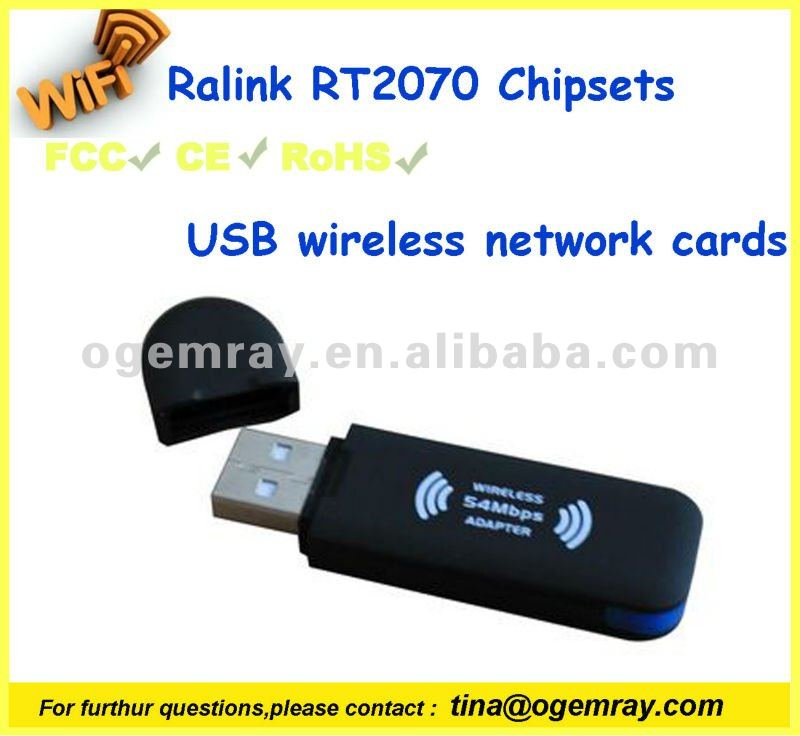 set top boxes 802.11b/g RT2070 chipset USB Wireless WiFi Dongles with low cost