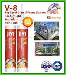 rapid cure Acetic Silicone Sealant for aquarium with clear color with industrial sealing and bonding