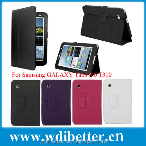 For Tab3 8.0 Cell Phone Case,Stand Flip Leather Case Pouch For Samsung Galaxy Tab3 8.0 T310 T311