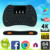 2019 high quality H9 air mouse for Android TV BT Keyboard With Bottom Price Wireless remote control