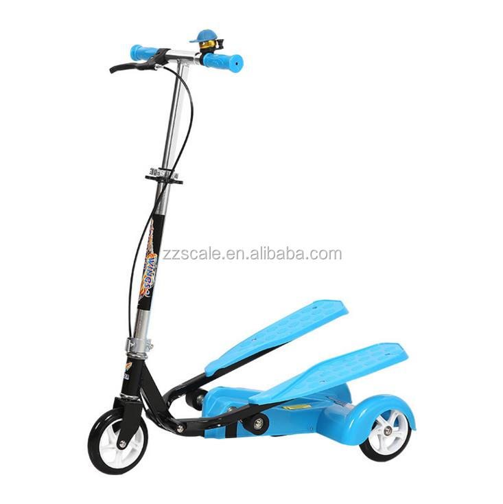 Wing Flyer fitness foot step dual pedal scooter for kids and adults