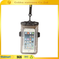 promotional 100% eco friendly cellphone bag mobile phone pvc waterproof bag waterproof bag