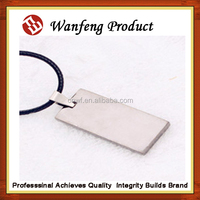 Factory produce low price Any Shape blank Stainless Steel Dog Tags with chain cat tags