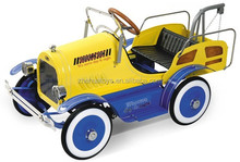 High quality antique toy metal tow truck,ride on metal pedal cars for kids