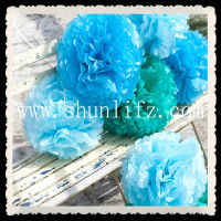 8'' Tissue Paper PomPoms Flower Christmas Outdoor Decor