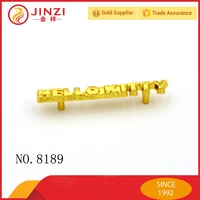 Trade assurence 2 hole metal tag with top quality