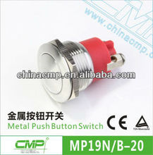 CMP Red Bottom Screw Push Button Switch Waterproof IP68 (Dia:19mm)