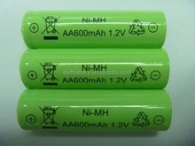 AA Ni-mh 600mah 1.2v Rechargeable Batteries for solar lights