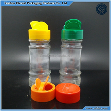 100ml round glass pepper bottle with plastic cap with hold