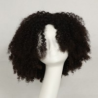 New arrival most popular 16inch Brazilian virgin curly afro wigs for black women