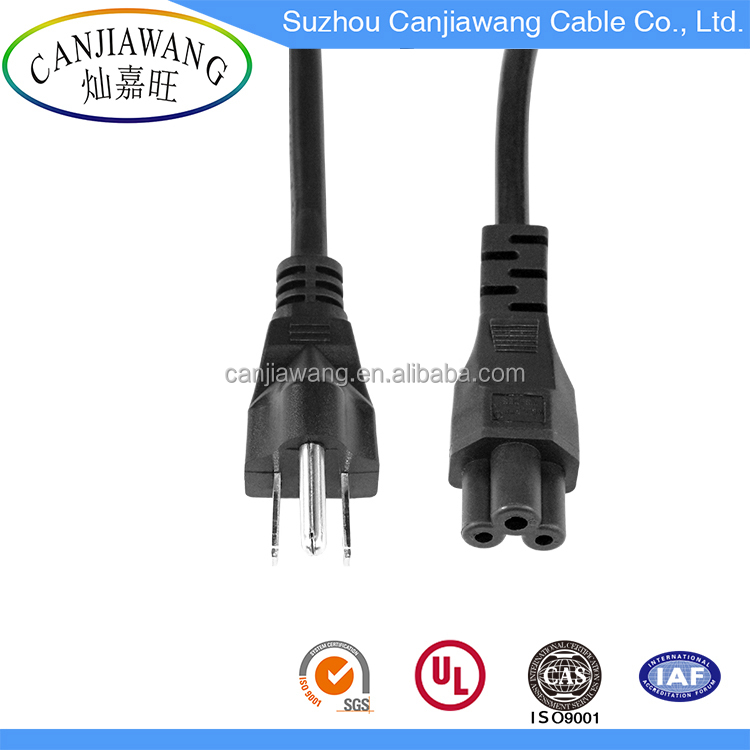 2 pin 3 pin usa/eu/uk AC power plug /power cord cable with plug