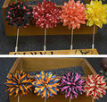 large dots stripe fake flower brooch and lapel pin manufacturers china