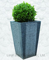 Chinese Factory Wholesale Large Outdoor Decorative Granite Stone Garden Flower Pot