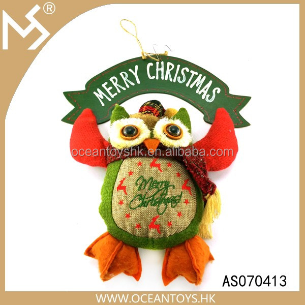 Harvest festival Christmas party owl doll designer home decor wholesale