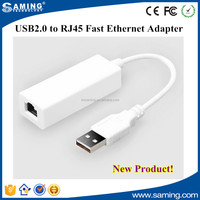 Micro USB Ethernet Adapter USB2.0 to RJ45 Fast Ethernet Adapter