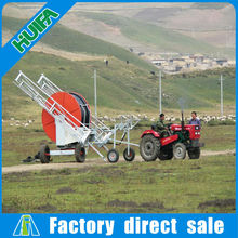 Crop-protecting water turbine driving Spraying irrigation supply with boom