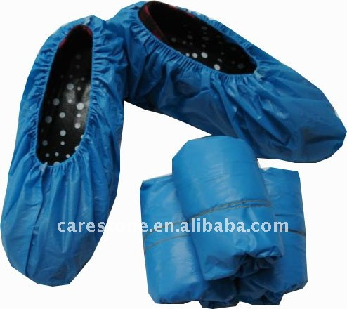 Disposable pe and cpe waterproof overshoes with ISO and CE certificate