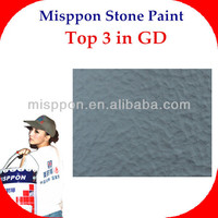 Misppon yellowing resistance construction wall paint- natural stone paint