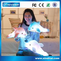 led soft hair huge dolphin stuffed animal pillow plush toy