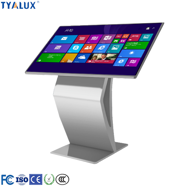 TYALUX 49 inch touch screen digital singage kiosk standing