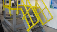 WellGRID Factory Supply FRP GRP Fiber Glass Stair Treads