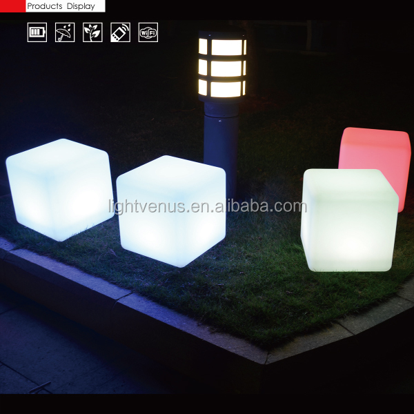led bar chair decoration modern outdoor led cube/ led cube chair/ glow cube