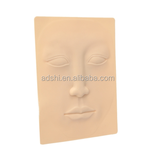 3D face PMU practice skin with lips & nose & eyes & eyebrows for permanent makeup beginners