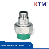 BRASS FITTING, PIPE FITTING, PPR UNION FOR CONNECTING PPR PIPE