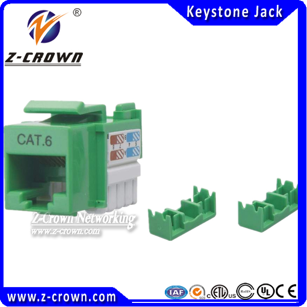 180 Degree Cat 6 Keystone Jack For Wall Plate