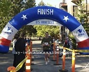 Inflatable racing arch for finish line, inflatable finish line