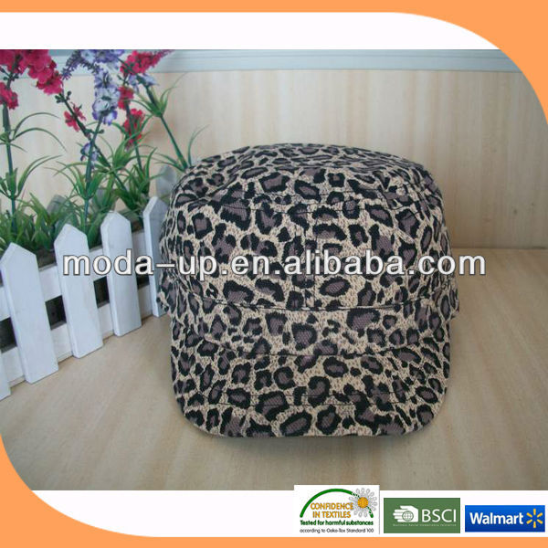 Panther print fabric/ baseball cap without logo/ baseball cap pattern
