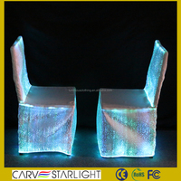 wedding decoration chair covers and table covers fiber optic cloth