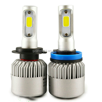Onelight S2 cob 80000lm 36w car automatic led headlight kit h1 h3 880 881 h4 9005 9012