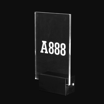 Acrylic Custom Hotel Room Number Directional Sign with LED Backlit