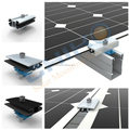 Adjustable solar pv panel mounting support structure clamp / thin film clamps