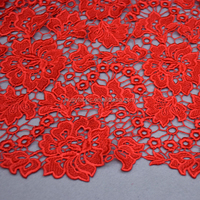 Guipure Lace fabric heavy chemical soluble hollow lace fabric