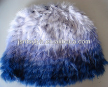 2014 knitting fashion lady's beanie rabbit fur hat