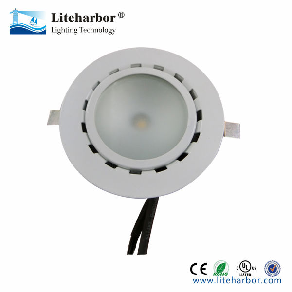 Smooth white UL cob led puck light