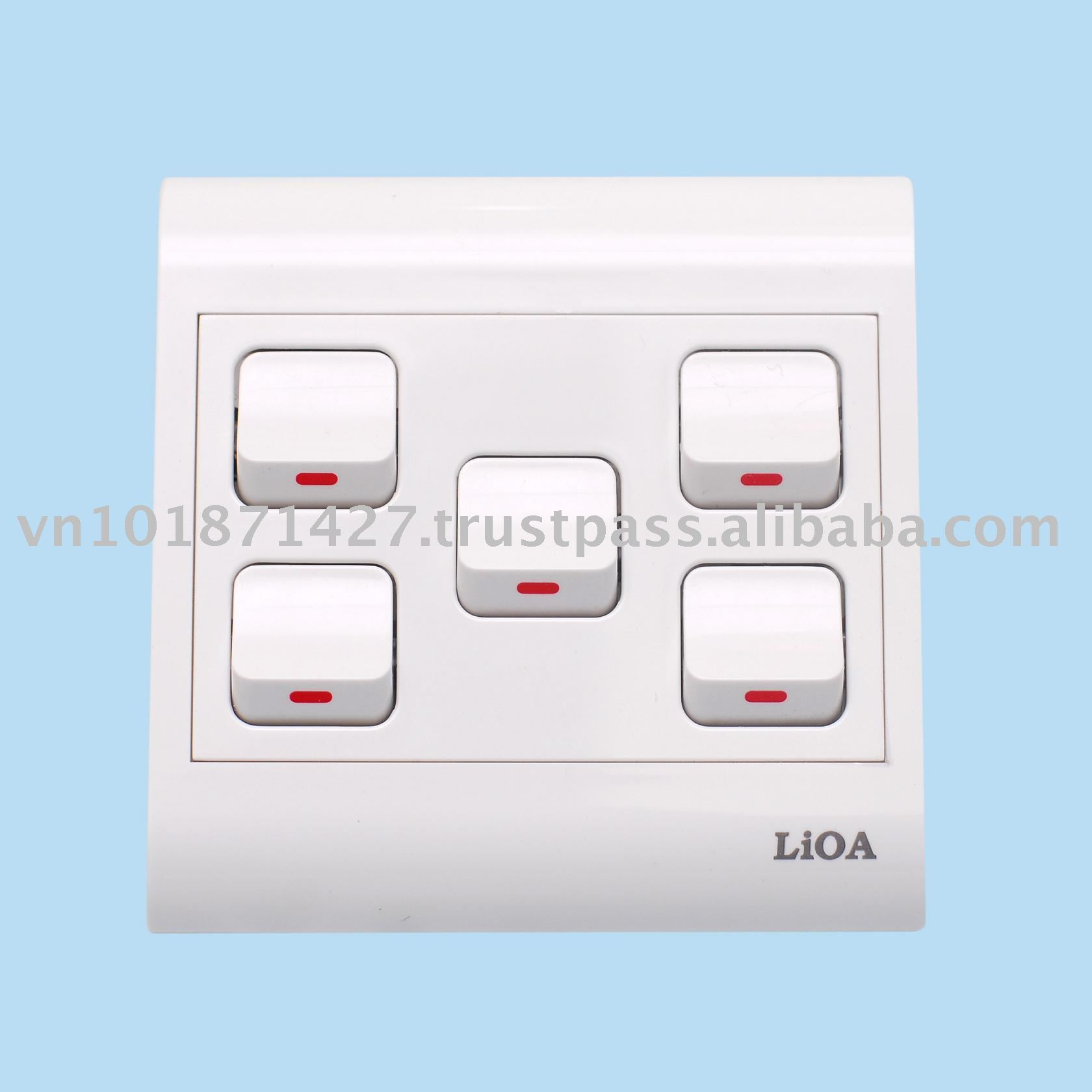 Wall switch and sockets