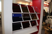 Different kind color of mirror glass edged polished for bathroom building