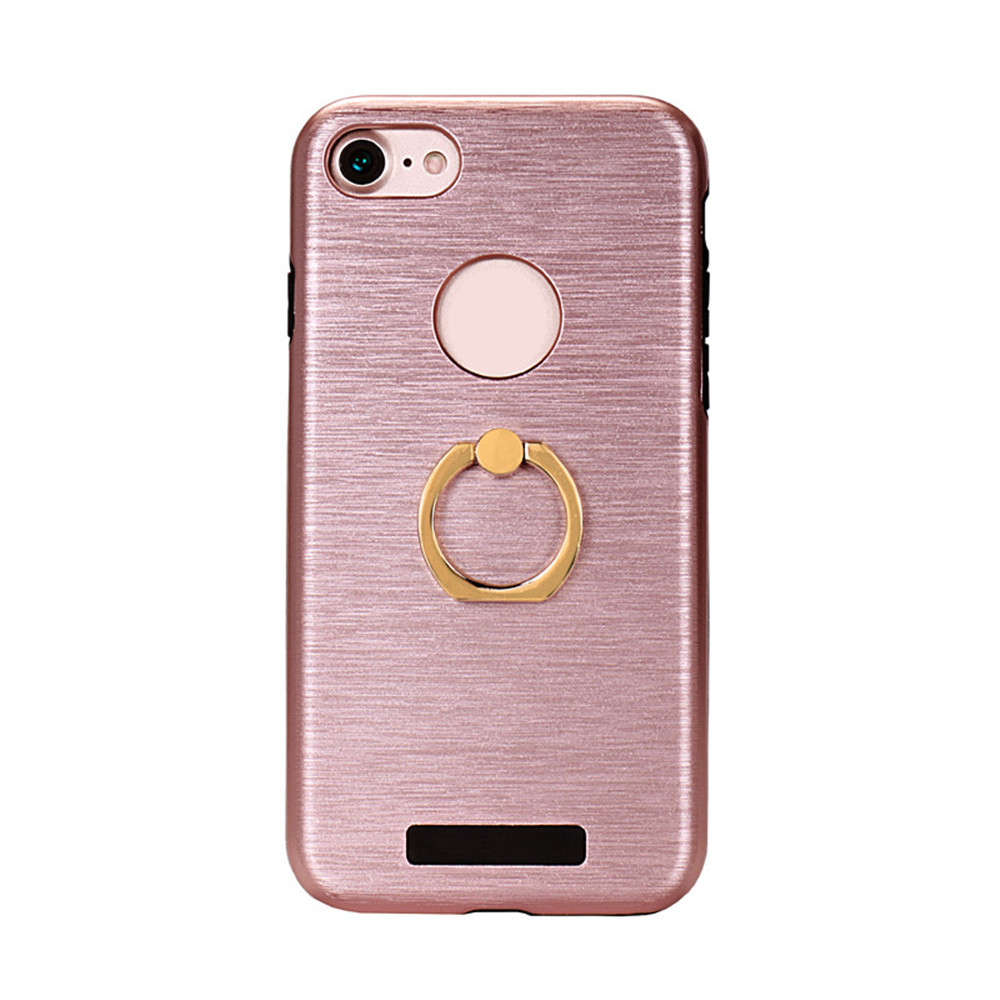 New Design Fashion Faux-metallic Double Protective Mobile Phone Case For iPhone5 5S 6 6s 6plus 7 7plus