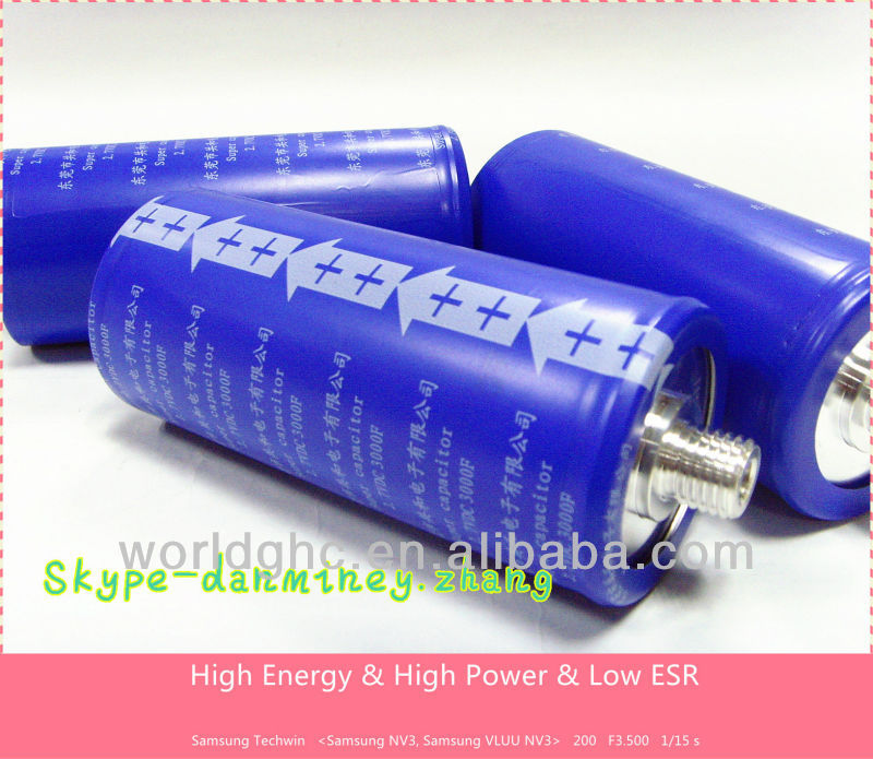 factory <strong>price</strong>! graphene super capacitor 3000f 2.7v cheap shipping ultra capacitor on sale